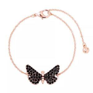 ❤️gorgeous black onyx butterfly rose gold bracelet